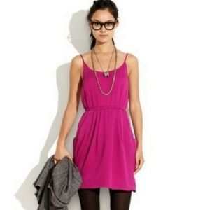 [Madewell] Fuchsia Hammered Dress
